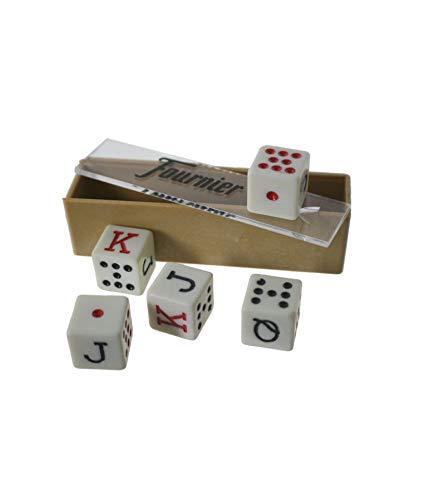 CAL FUSTER - Dados de Póker para Juego de Cartas. Medidas: 1,5 cm.