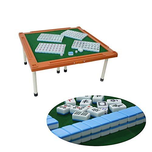 Mahjong De Viaje PortáTil, Hecho De Melamina, con Un Plegable Mahjong Tabla, Resistente Al Desgaste Y Resistente, Estructura SóLida, Conveniente para Las Varias Reuniones