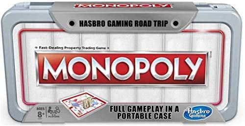 Hasbro Gaming Road Trip Series Monopoly Juego de Mesa portátil para Llevar sobre la Marcha para niños a Partir de 8 años