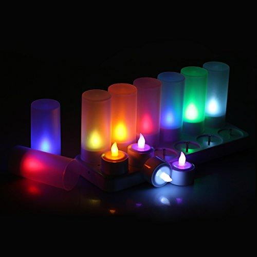 Juego de 12velas LED, recargables