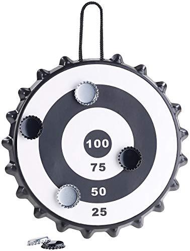 Playtastic Tapas de Botella Dardos: Juego de Dardos de Tapa de Botella magnética con 6 Tapas de Botella, Ø 24 cm (Tapas de Botella Diana)