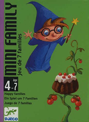 Djeco- Juegos de cartasJuegos de cartasDJECOCartas Mini Family, Multicolor (36)