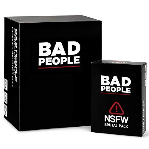 Bad People - Juego de mesa de puzle de edición básica y cartas de edición extendida, juego de papel para jóvenes adultos
