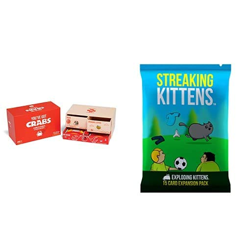 Exploding Kittens You've Got Crabs Juego: A Family Friendly Card Game - en Inglés + This is The Second Expansion, Barraja de Cartas