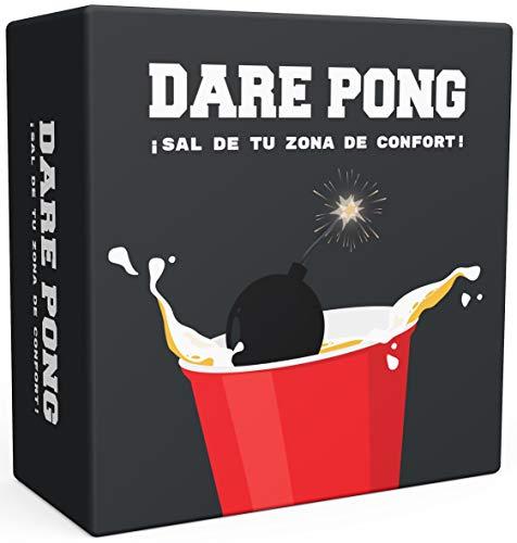 Dare Pong - Una combinación de Beer Pong y de Prueba o Verdad. Juego para Beber ¡Novedad del 2021! Ideal para Fiestas, botellones, Festivales o como Regalo