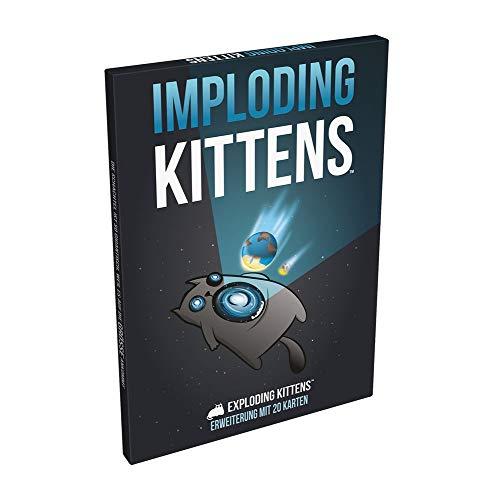 Asmodee Exploding Kittens - Imploding Kittens Kartenspiel Erweiterung (Deutsch)