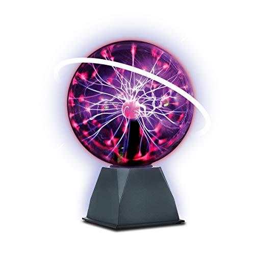 World Brands diámetro 20 cm, Lava Grande, Bola Cristal, lámparas, reacciona al Ritmo de la música y al Sonido, Plasma Ball (80913)