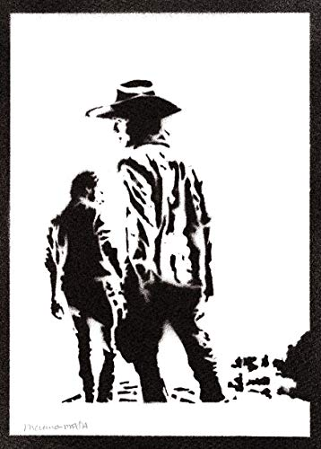 Poster Carl y Rick The Walking Dead Grafiti Hecho a Mano - Handmade Street Art - Artwork