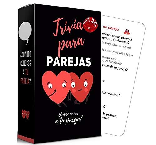 fedriani |Trivia para Parejas | Juego de Cartas Divertido | ¿Cuánto conoces a tu Pareja?| Regalos para Parejas Novio Novia| Juego de Preguntas para 2| De 2 a 10 Jugadores