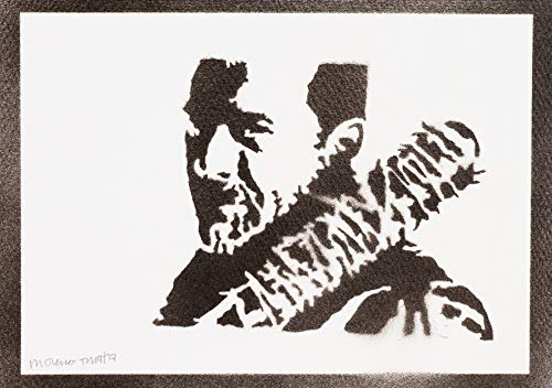 Poster Negan The Walking Dead Grafiti Hecho a Mano - Handmade Street Art - Artwork