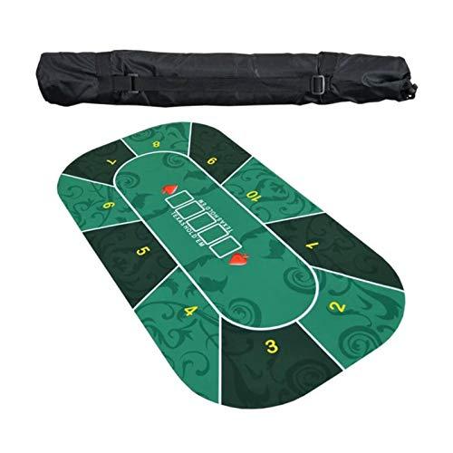 Dettelin Estera de Mesa de póquer portátil Texas Hold em Poker Mat con Tubo de Transporte Texas Hold'em Tabletop Mat