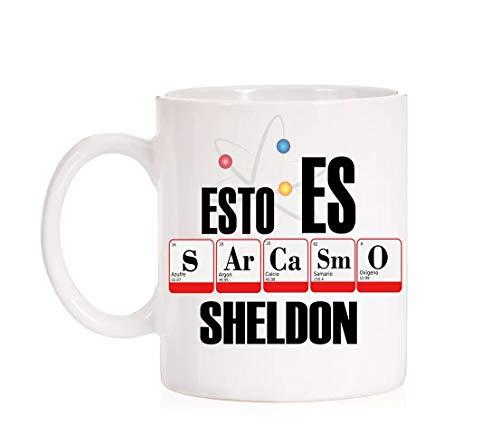 FUNNY CUP Taza Divertida. Esto es Sarcasmo Sheldon (Sarcasmo)