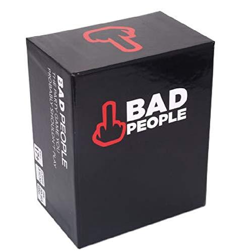 Bad People Board Tarjetas De Juego Juego De Papel, El Juego De La Fiesta Que Probablemente No Deberías Jugar, Paquete De Expansión Brutal para Personas Adultas Jóvenes