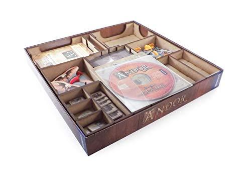 The Game Doctors Organizador de Juegos de Mesa Compatible con Las Leyendas de Andor: La Caja de Bonos