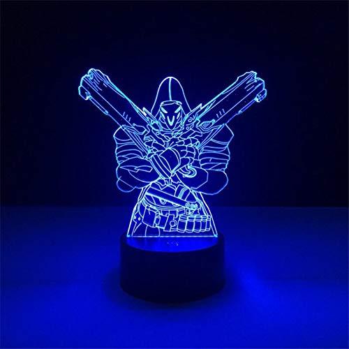 Personajes del juego Lámpara de mesa 3D Lámpara de acrílico LED multicolor Lámpara de mesa con interruptor táctil multicolor Lámpara de acrílico de lava Regalo para fan del juego