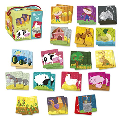 Goula- Memo: Loto Animales Granja Juego para Niños, Multicolor (53414)