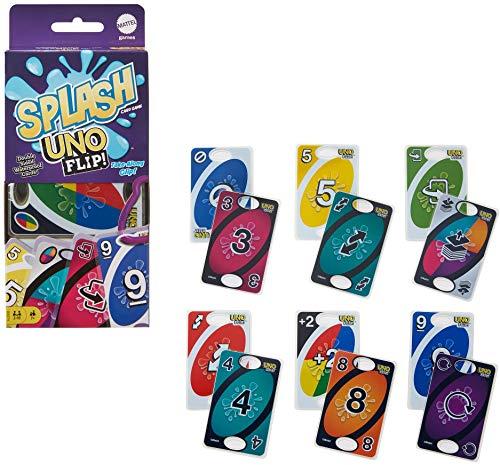 Mattel Games Juego de cartas UNO Flip! Splash (GXD74)