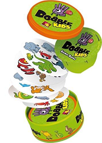 Asmodee - Dobble Kids (versión inglesa) - Idioma en Inglés