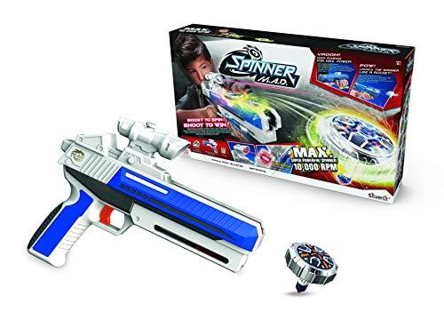 Silverlit- Spinner Mad by Advance Single Shot-1 Blaster Laser y 1 Spinner 86305