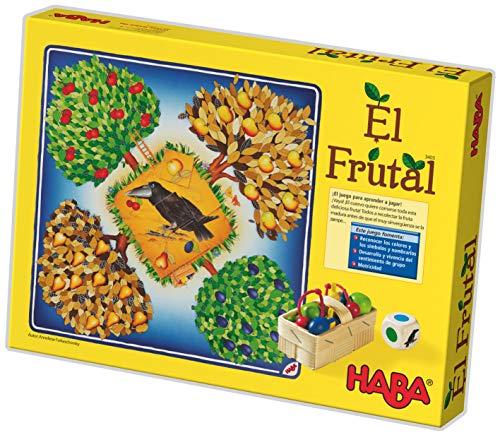 HABA Frutal, ESP (3403), emocionante dados, con 40 frutas de madera y reglas fáciles de entender, popular juego de mesa a partir de 3 años, Talla Única (HA3403)