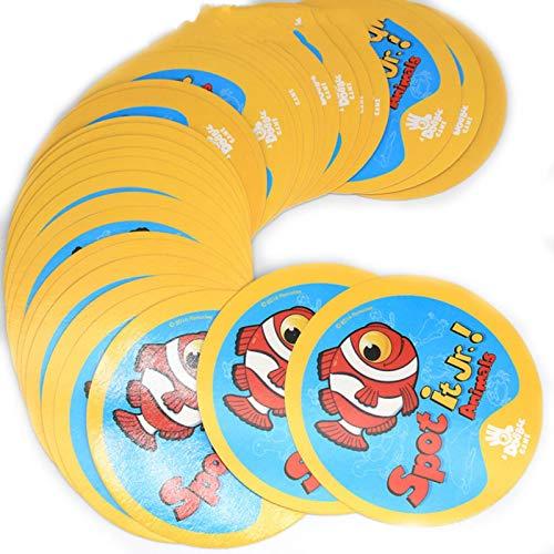 LuckyOne 20 estilos Harry Potter Dobble Spot It Toy Caja de hierro 55 cartas Deporte Diversión Familiar Animales Jr Hip Kids Juego de mesa Regalo Vacaciones Camping 123 Caja de lata