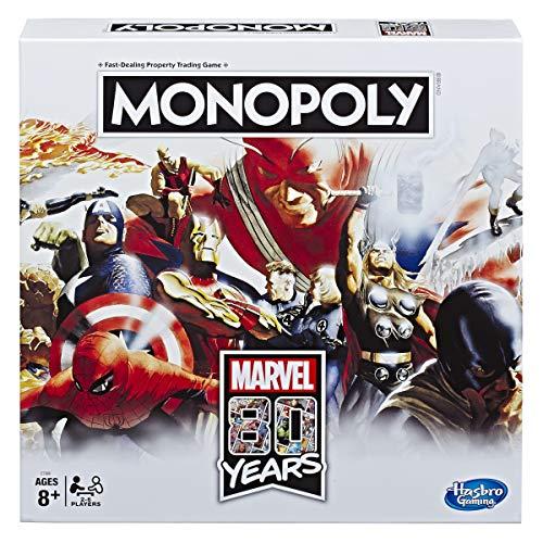 Monopoly - Juego de Mesa de Monopoly Marvel 80 años Comics