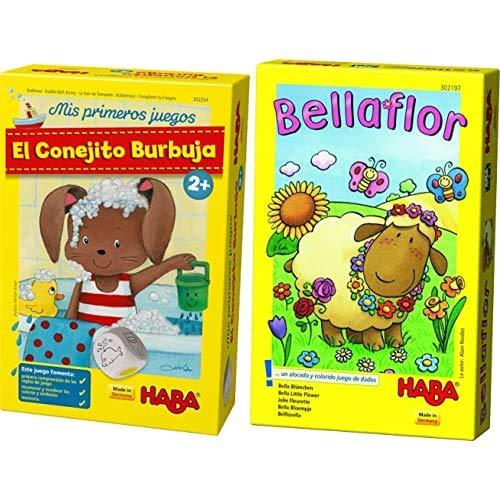 HABA-El El Conejito Burbuja (302254) , Color, Modelo Surtido + Bellaflor-ESP (302197)
