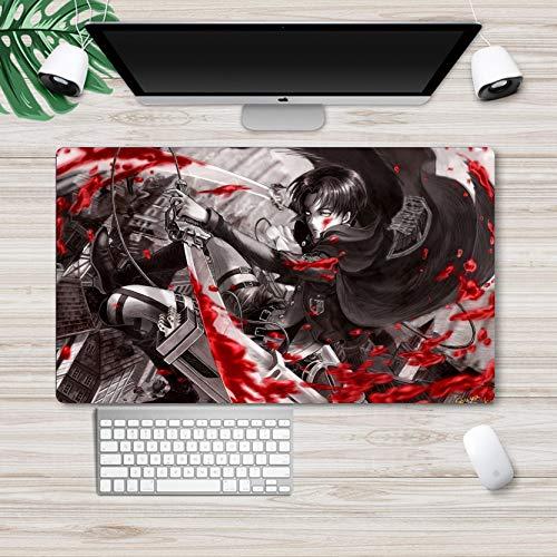 Alfombrilla de ratón Attack On Titan de anime grande para escritorio, teclado de ordenador, ataque en Titan para juegos de mesa, alfombrilla de juego 395