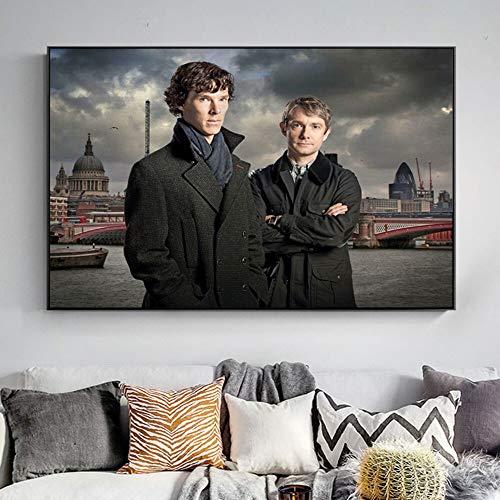Puzzle 1000 piezas Imagen artística de la serie de televisión Detective Holmes y Doctor Watson puzzle 1000 piezas educa Juego de habilidad para toda la familia, colorido juego50x75cm(20x30inch)