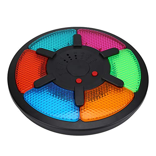 Tnfeeon Juego de Entrenamiento de Memoria, Juego de Mesa de Seis Paneles Brain Teaser Interacción plástica Juego de Memoria electrónica Inteligente con luz Musical para niños niñas