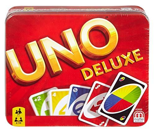 Mattel Games UNO Deluxe, juego de cartas (Mattel K0888)
