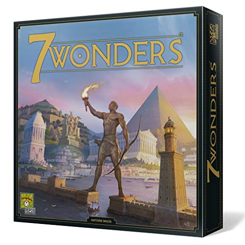 Repos Productions, SEV-SP02y, 7 Wonders - Juego de Mesa, 3 a 7 Jugadores