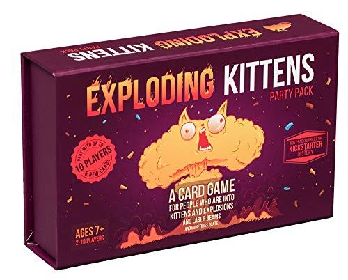 Exploding Kittens Juego Paquete de Fiesta Juega con hasta 10 Jugadores! Juego de cartas en Inglés