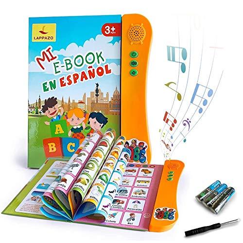 Libro Electrónico de Sonido en Español Juguetes de Aprendizaje para Bebés Niños Máquinas de Lectura para niños 3-5 Años Aprender Idioma con Juegos Juguete Educativo Infantil