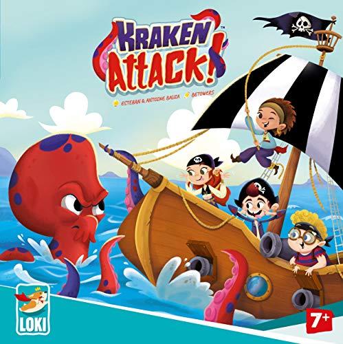 Lúdilo Kraken Attack Mesa, Juegos de Cartas (Loki 61687)