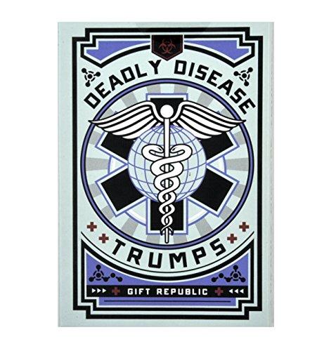 Gift Republic Deadly Disease Trumps Juego de Cartas, Multi