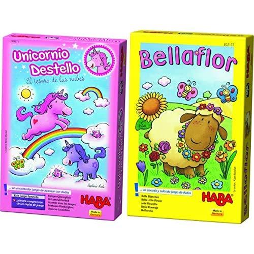 Haba- Unicornio Destello El Tesoro de Las Nubes (301771) + Bellaflor-ESP (302197)