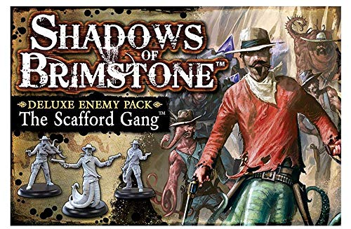 Fantasy Flight Games FFP07DE02 The Scafford Gang - Paquete de Enemigos Deluxe: Shadows of Brimstone Exp, Multicolor