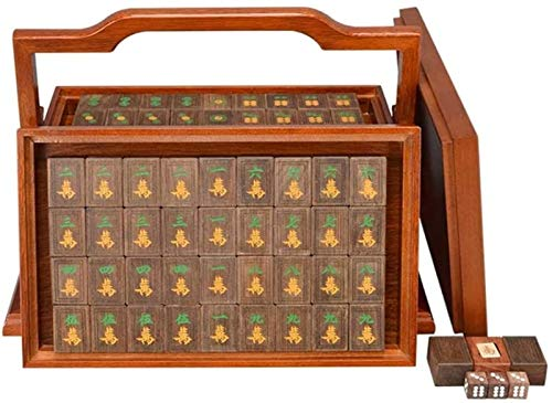 El más nuevo Juego de mesa de mesa de mahjong china Juegos de azulejos juego Mah Jong Chino Chino Mahjong Juegos de Mahjong Cuernos Resina Caja de aluminio Entretenimiento Favorito Mejor Amante de reg