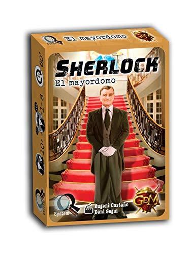 GM Games- Sherlock: el mayordomo Juego de investigación, Color Gris (GDM Games GDM2094)