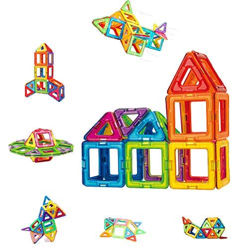 Condis 42 Piezas Bloques de Construcción Magnéticos para Niños Kit de Inicio, Juegos de Viaje Construcciones Magneticas Imanes Regalos Cumpleaños Juguetes Educativos para Niños Mayores de 3 años