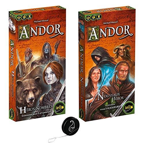 Juego de 2 extensiones de Andor: nuevos héroes + héroes oscuros + 1 Yoyo Blumie.