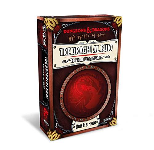 Asmodee - Tres Dragones en la Oscuridad: edición legendaria, Juego de Cartas, edición en Italiano, 4046