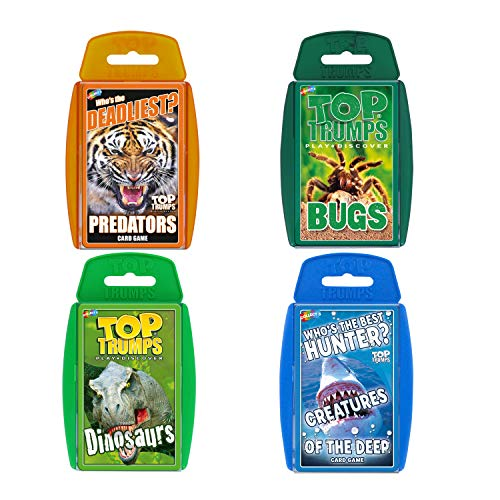 Top Trumps WM00159-EN1-6 Juego de Cartas de Animales mortales