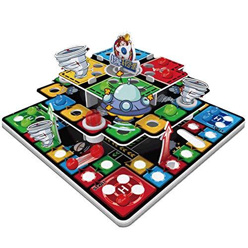 belupai Juego clásico 3D para niños juego de vuelo juego de juguete juego de mesa de vuelo de ajedrez batalla Ludo regalo divertido para niños