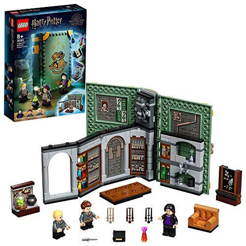 LEGO 76383 Harry Potter Momento Hogwarts: Clase de Pociones, Libro de Juguete Coleccionable, Set Portátil, Estuche de Viaje