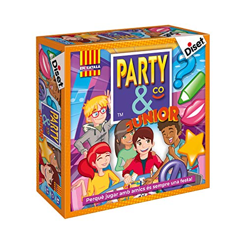 Diset- Party & Co. Junior Juego de Mesa, Multicolor (10105)
