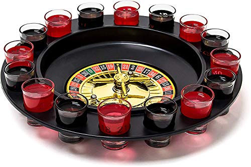 Relaxdays- Juego de Beber, Color Rojo/Negro (10010182)