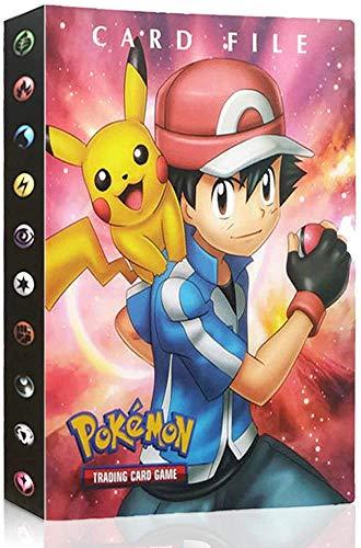 Funmo Álbum de Pokemon, Tarjeta de Comercio Álbum, Pokemon Cards GX EX Album Pokemon Cards Album Book, Album Pokemon Puede acomodar 120 Tarjetas Individuales o 240 Tarjetas Dobles (Rojo)
