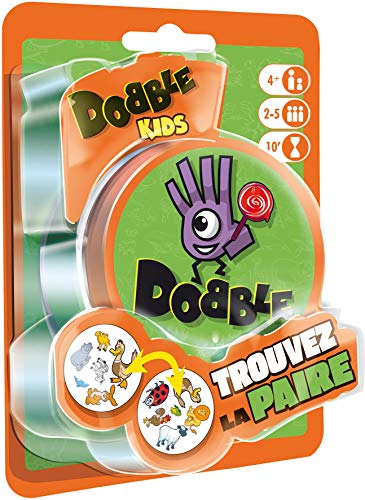 Asmodée- Dobble Kids Blister, Color jeu d'ambiance (DOKI02FR) - Idioma Francés